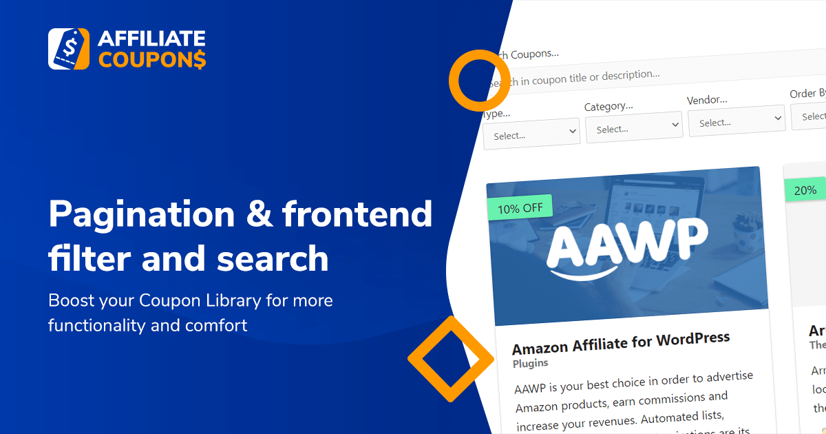 New plugin update brings pagination & frontend filter and search
